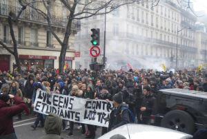 PLev-Cortège lycéens République 9 mars 2016