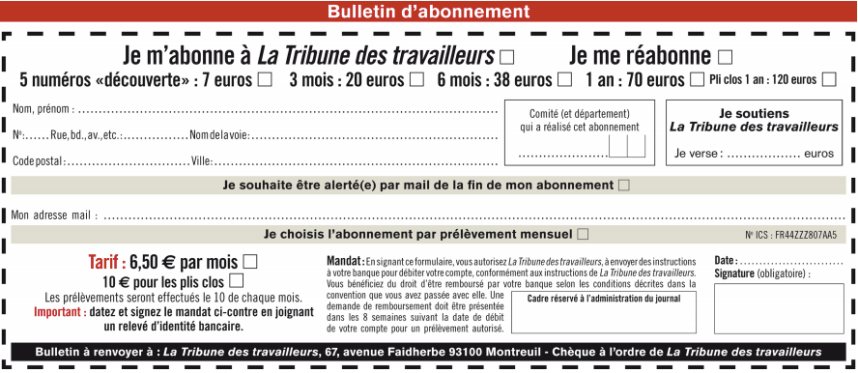 Bulletin abo TT