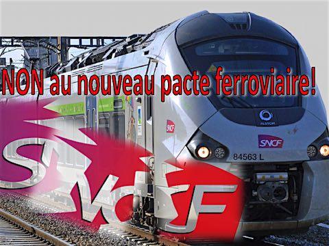 15 mars 2018 – Après le rapport Spinetta en février et au lendemain de la présentation du projet de loi de «<em> nouveau pacte ferroviaire</em> » habilitant le gouvernement à organiser la privatisation par ordonnances, la direction de la SNCF a présenté ce jeudi à la ministre de tutelle, la feuille de route du «<em> pacte d'entreprise</em> » qu'il compte négocier avec les syndicats. Il vise à baisser les coûts de la SNCF de 27% pour les «<em> aligner sur les standards européens, à  améliorer la polyvalence des métiers, réorganiser le travail, former aux métiers de demain, renforcer la productivité industrielle, moderniser le dialogue social et  mieux intégrer toutes les mobilités</em> ».
