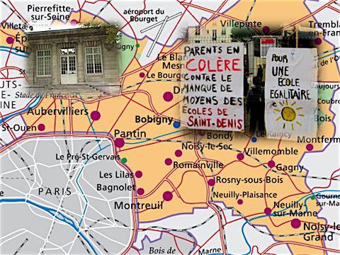 18 mai 2018 – Un rapport d'évaluation de l'action de la puissance publique dans le département de la Seine Saint-Denis qui sera présenté à l'Assemblée Nationale le 31 mai, dresse le portrait  de «<em> la République en échec</em> », dénonçant la faillite d'un Etat «<em> inégalitaire et inadapté </em>».  Deux exemples sont notamment cités : le délai d'inscription des affaires à l'audience au tribunal d'instance d'Aubervilliers est porté à douze mois, contre deux mois à Paris; le moins bien doté des établissements scolaires parisiens reste mieux doté que le plus doté des établissements de la Seine-Saint-Denis.